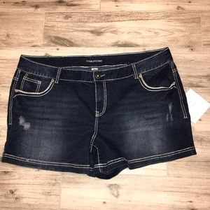 Maurices Dark Denim Plus Size Jean Shorts Sz 24